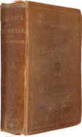 Books:First Editions, Herman Melville. Moby-Dick; or, The Whale. New York: Harper& Brothers, 1851. First American edition. Octavo. xx...