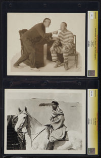 """The Man Who Turned White and Other Lot (Robertson-Cole, 1919). CGC Graded Photos (2) (8"""" X 10""""). Adventure..."""