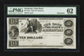 Obsoletes By State:Arkansas, Little Rock, AR- Bank of the State of Arkansas $10 G42 Rothert 400-2. ...