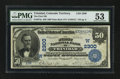 National Bank Notes:Colorado, Trinidad, CO - $50 1902 Date Back Fr. 674a The First NB Ch. #(W)2300. ...