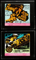 "Movie Posters:War, Action in the North Atlantic & Other Lot (Warner Brothers,1943). Glass Slides (2) (2.5"" X 3""). War.. ... (Total: 2 Items)"