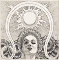 Art:Illustration Art - Pulp, VIRGIL FINLAY (American, 1914-1971). Astrology magazine, story illustration, circa 1950s. Pen and ink on paper. 7.75 x 7...