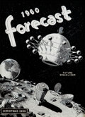 Art:Illustration Art - Pulp, FRANK R. PAUL (American, 1884-1963). 1960 Forecast, RadioElectronics Magazine cover, 1959. Ink on board . 14.5 x 10.75...