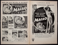 """Macao (RKO, 1952). Uncut Pressbook (16 Pages, 12"""" X 17.75"""") and Advertising Section (16 Pages, 12"""" X 18&q..."""