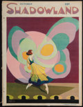 """Movie Posters:Miscellaneous, Shadowland (Brewster Publications, October, 1921). Magazine (80 Pages, 9.5"""" X 12.5""""). Miscellaneous.. ..."""