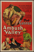"Movie Posters:Western, Ambush Valley (Reliable, 1936). One Sheet (27"" X 41""). Western.. ..."