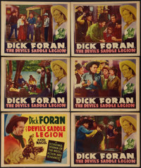 "The Devil's Saddle Legion (Warner Brothers, 1937). Other Company Title Lobby Card and Lobby Cards (5) (11"" X 14&quo..."