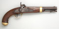 Handguns:Muzzle loading, U.S. Model 1842 Martial Single-Shot Percussion Pistol by H. Aston& Co. dated 1851....