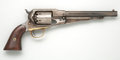 Handguns:Single Action Revolver, Remington 1861 New Model Army Percussion Revolver Together with Holster....