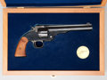 Handguns:Single Action Revolver, **Cased Reissue Smith and Wesson First Model Schofield Single Action Revolver....