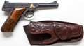 Handguns:Semiautomatic Pistol, *Engraved and Gold-Inlaid Colt Woodsman Semi-Automatic Pistol with Holster....