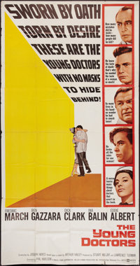"""The Young Doctors & Other Lot (United Artists, 1961). Three Sheets (2) (41"""" X 81""""). Drama. ... (Total:..."""