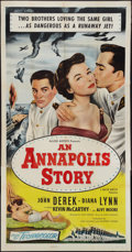 "Movie Posters:Drama, An Annapolis Story (Allied Artists, 1955). Three Sheet (41"" X 81"").Drama.. ..."