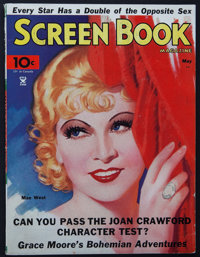 """Screen Book (Fawcett Publications, May, 1935). Magazine (92 Pages, 8.5"""" X 11.25""""). Miscellaneous"""