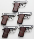 Handguns:Semiautomatic Pistol, Lot of Five (5) Beretta Model 21A Inox SS Semi-Automatic Pistols....