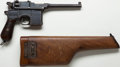 Handguns:Semiautomatic Pistol, *Prussian Army Mauser Model 1896 Broomhandle Semi-Automatic Pistolwith Shoulder Stock....