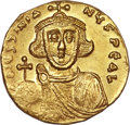 Ancients:Byzantine, Ancients: Justinian II, first reign (AD 687-692). AV solidus (4.16gm). ...