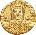 Ancients:Byzantine, Ancients: Irene with Constantine VI (AD 780-797). AV solidus (4.39gm). ...