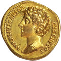 Ancients:Roman Imperial, Ancients: Marcus Aurelius as Caesar (AD 139-161). AV aureus (7.10gm). ...