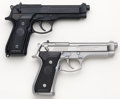 Handguns:Semiautomatic Pistol, **Beretta Lot (2)-Model 92F & 92FS 9mm Semi-Automatic Pistols MIB....