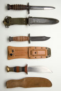 Edged Weapons:Knives, Lot of Three Fighting Knives....