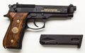 Handguns:Semiautomatic Pistol, **Lot of Two (2) Beretta M9 Limited Edition 9mm Semi-AutomaticPistols, with Display Case....