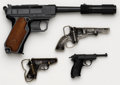Other Hand Weapons, Lot of Assorted Toy Pistols and Belt Buckles....