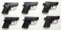 Handguns:Semiautomatic Pistol, Beretta Lot -(6) Model 20 Double Action .25ACP Semi-Auto Pistols....