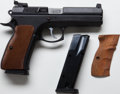 Handguns:Semiautomatic Pistol, **Cased Model CZ97 B Double Action Semi-Automatic Pistol Togetherwith Extra Magazine, Grips, Lock, Sights and Cleaning Tools....
