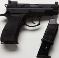 Handguns:Semiautomatic Pistol, **Cased Model CZ75 D Double Action Semi-Automatic Pistol Together with Extra Magazine, Gun Lock, Sights and Cleaning Tools....