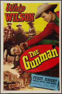 """The Gunman & Other Lot (Monogram, 1952). One Sheets (2) (27"""" X 41""""). Western. ... (Total: 2 Items)"""