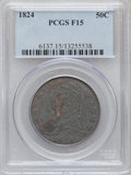 Bust Half Dollars: , 1824 50C Fine 15 PCGS. PCGS Population (16/854). NGC Census:(14/791). Mintage: 3,504,954. Numismedia Wsl. Price for proble...