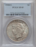 Peace Dollars: , 1928-S $1 XF45 PCGS. PCGS Population (98/5374). NGC Census:(47/3988). Mintage: 1,632,000. Numismedia Wsl. Price for proble...