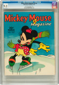 Golden Age (1938-1955):Cartoon Character, Mickey Mouse Magazine V5#6 (K. K. Publications/ Western Publishing Co., 1940) CGC NM- 9.2 Cream to off-white pages....