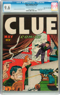 Golden Age (1938-1955):Crime, Clue Comics V2#3 Mile High pedigree (Hillman Publications, 1947) CGC NM+ 9.6 Off-white to white pages....
