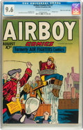 Golden Age (1938-1955):Western, Airboy Comics V3#7 Mile High pedigree (Hillman, 1946) CGC NM+ 9.6Off-white to white pages....