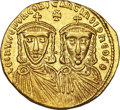Ancients:Byzantine, Ancients: Leo IV the Khazar and Constantine VI (AD 775-780). AV solidus (4.41 gm). ...