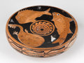 Antiquities:Greek, Antiquities: GREEK SOUTHERN ITALY. Apulian red-figure fish plate,ca. 330-310 BC. ...