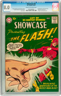 Silver Age (1956-1969):Superhero, Showcase #8 The Flash (DC, 1957) CGC VF 8.0 Cream to off-white pages....