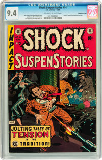 Shock SuspenStories #14 Gaines File pedigree 7/12 (EC, 1954) CGC NM 9.4 Off-white to white pages