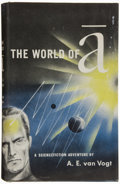 Books:Signed Editions, A. E. van Vogt. The World of A. New York: Simon andSchuster, 1948. First edition. Signed by the author. Oct...