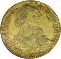 Chile: , Chile: Carlos III gold 8 Escudos 1779-DA, KM27, XF40 NGC, S.M.Damon Collection, an original coin with some light traces of luster...