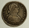 Chile: , Chile: Carlos IIII 4 Reales 1807-FJ, KM60, attractively toned AVF,evenly worn with strong details....