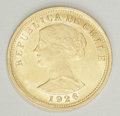 Chile: , Chile: Republic gold 100 Pesos 1926, KM170, nice AU-UNC, abundantmint luster. Scarce first issue, one-year type....