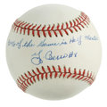 "Autographs:Baseballs, Yogi Berra ""90% of the Game is Half Mental"" Single Signed Baseball.Unique inscription single courtesy of one of the most e..."