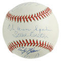 Autographs:Baseballs, 300 Win Club Pitchers Multi-Signed Baseball. Eight powerful moundspecialists who have reached the 300 win mark have checke...