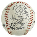 Autographs:Baseballs, New York Mets Stars Multi-Signed Baseball. Ten prominent figures inthe history of the New York Mets franchise have checked...