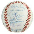 Autographs:Baseballs, 1987 New York Mets Old Timers Day Multi-Signed Baseball. Signed ata New York Mets Old Timers Day that took place in 1987, ...