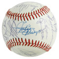 Autographs:Baseballs, 1983 New York Mets Old Timers Day Multi-Signed Baseball. The 27signatures collected on the surface of the ONL (Feeney) bal...