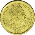 Ethiopia: , Ethiopia: Menelik II gold Werk 1889EE (1897), KM18, superb prooflike UNC, an exceptionally choice example. 2.86 grams.. From the Den...